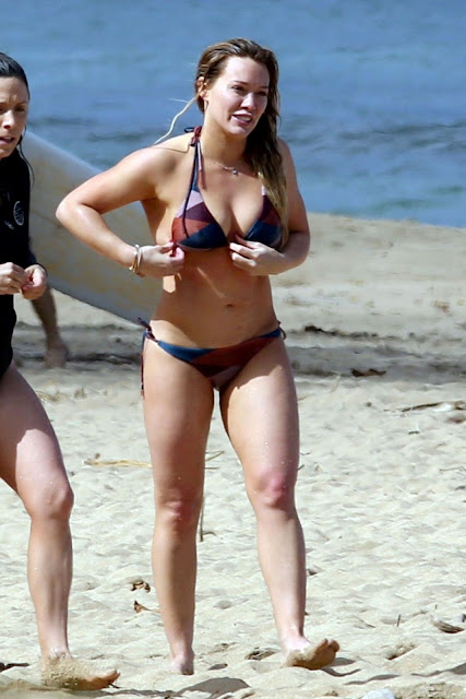 Hilary Duff in Bikini at a Beach in Hanalei