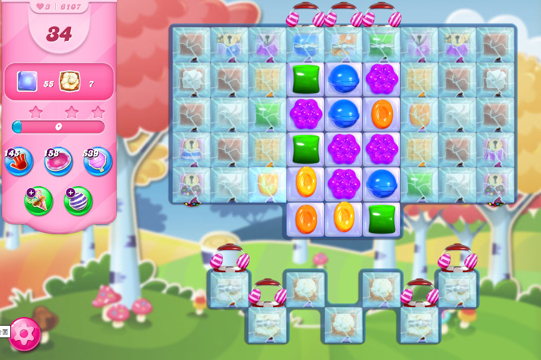 Candy Crush Saga level 6107