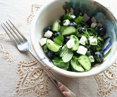 Blueberry Cucumber Salad with Feta