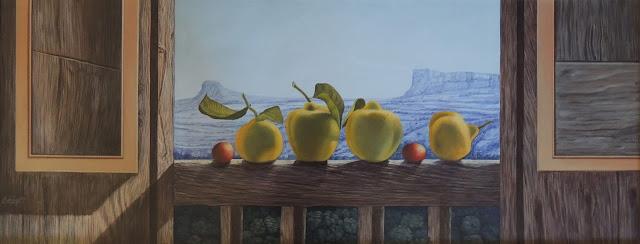 Gregorio Sabillón pintura cuadro surrealimo paisaje
