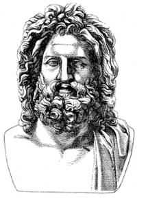 Zeus was the god of the sky and ruler of the Olympian gods.