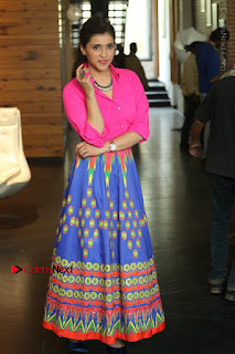 Actress Mannar Chopra in Pink Top and Blue Skirt at Rogue movie Interview  0063.JPG