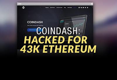 Coindash: Hacked for 43k Ethereum