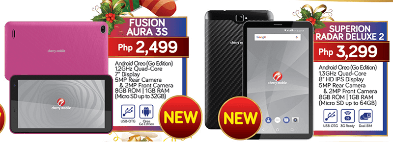 Cherry Mobile releases Fusion Aura 3S and Superion Radar Deluxe 2 tablets