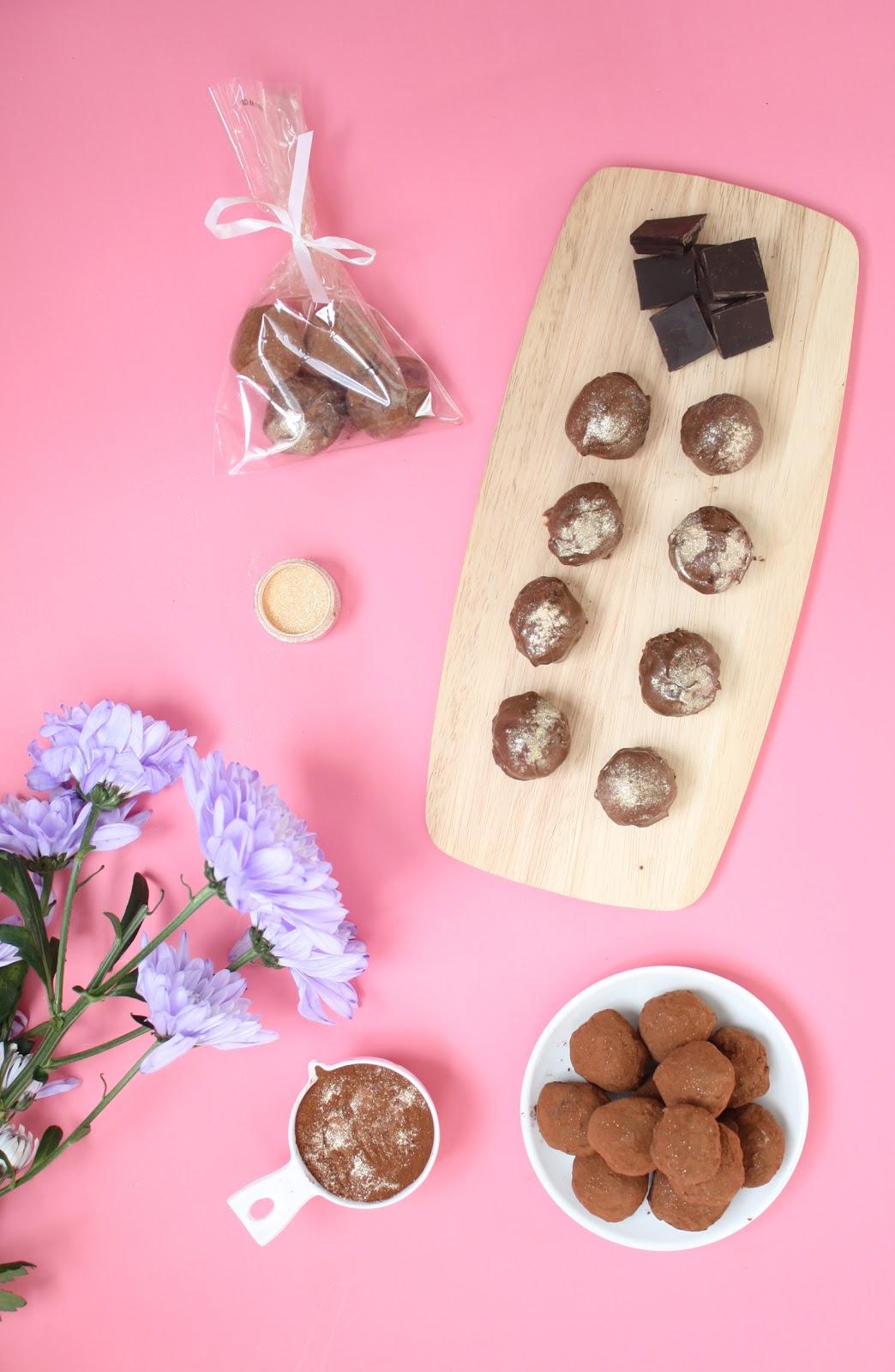 dairy-free dark chocolate rose water truffles