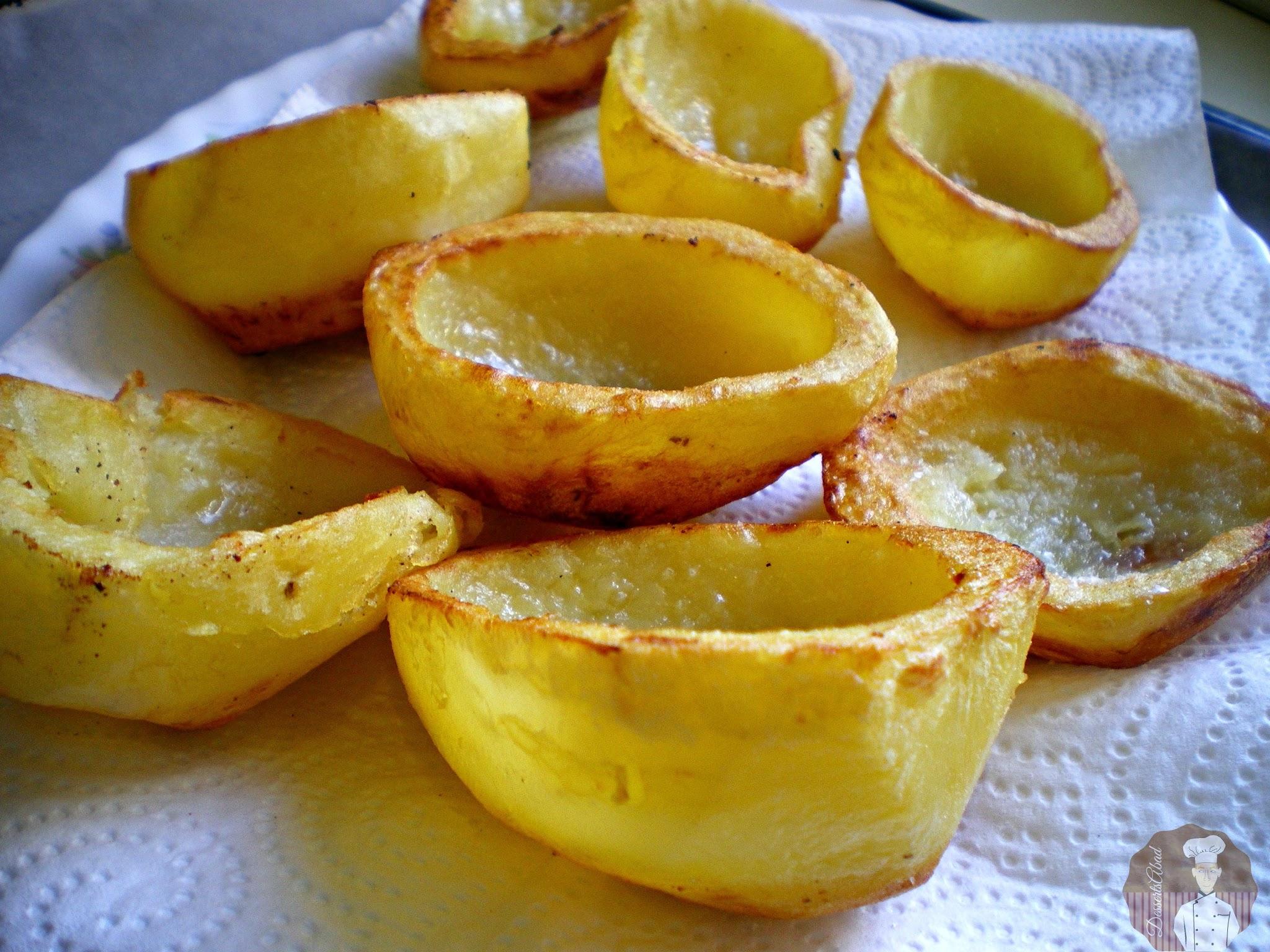 Patatas fritas listas para el relleno