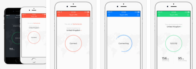 Tải App Fake IP rất tốt và mượt Touch VPN -Free Unlimited VPN Proxy & WiFi Privacy