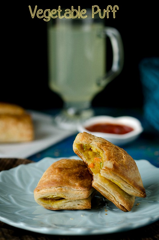 Vegetable puff with Homemade Puff Pastry