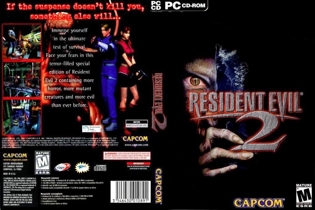 Resident Evil 2 PC DVD Capa