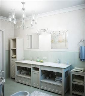 Thiết kế nội thất phòng tắm chung cư