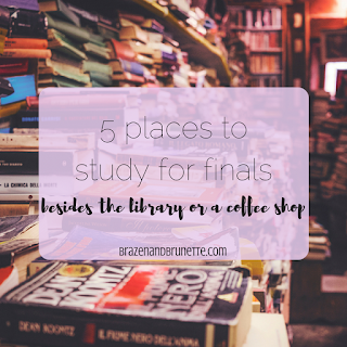 5 new study spaces for finals - a park, the pool, your apartment balcony, your apartment's study lounge, your friend's place | brazenandbrunette.com