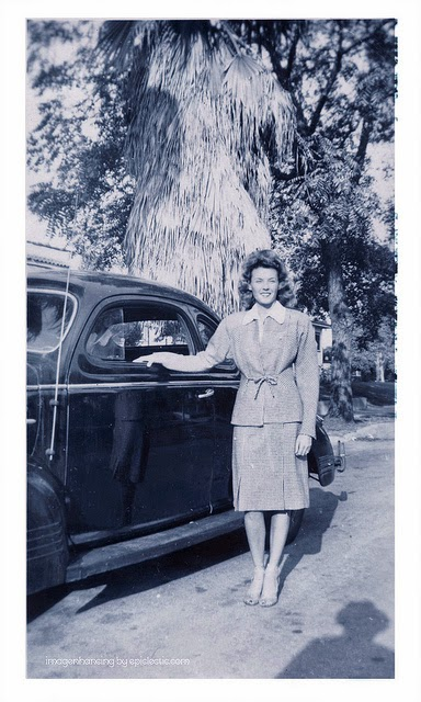 All The Girls Standing In The Line For The Bathroom: Vintage Photos Of People Posing With Their Cars More Than