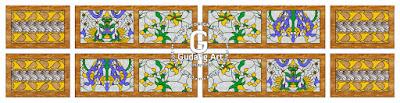 Seni kerajinan batik kaca patri Indonesia