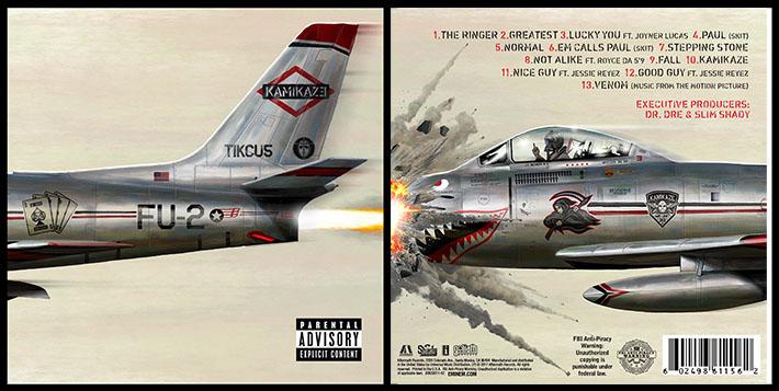 Cover Album Eminem - Kamikaze