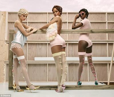 rihanna sexy for socks campaign