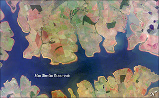 China's State Power Investment Corp operates the São Simão dam in Brazil. (Credit: NASA/ISS) Click to Enlarge.