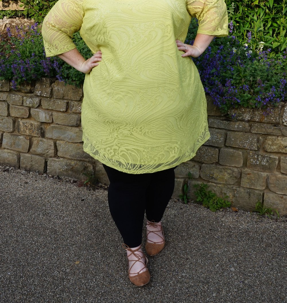Evans-Lime-Lace-Thrifted-plus-size-dress summer dress green dress