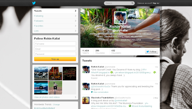 RK's Twitter Page - Screen Shot