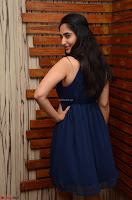 Radhika Mehrotra in a Deep neck Sleeveless Blue Dress at Mirchi Music Awards South 2017 ~  Exclusive Celebrities Galleries 098.jpg