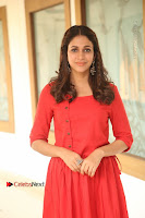 Actress Lavanya Tripathi Latest Pos in Red Dress at Radha Movie Success Meet .COM 0059.JPG