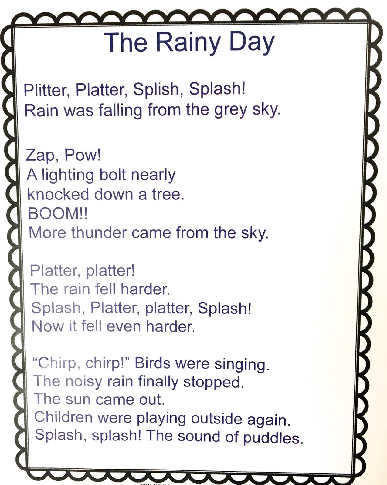 Onomatopoeia Poems For Kids