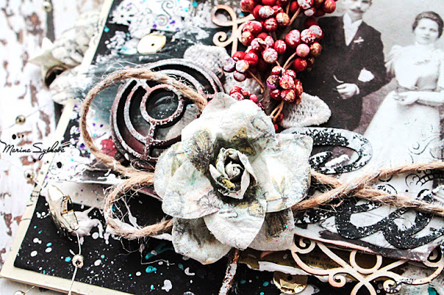 @marinasyskova #scrap #scrapbooking #mixedmedia #7dotsstudio #card