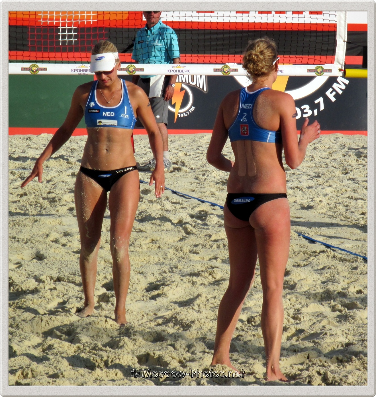 Dutch beach volleyball girls Marleen Van Iersel &  Sanne Keizer