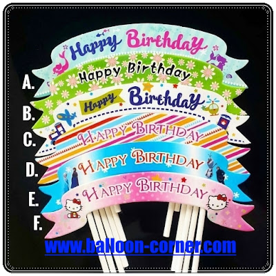 Topper Kue HAPPY BIRTHDAY Motif PITA