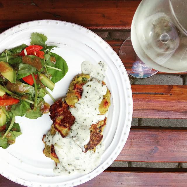 Racuchy z kurczakiem i warzywami