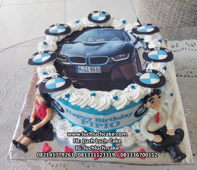 Kue Tart Mobil BMW (Edible Image)