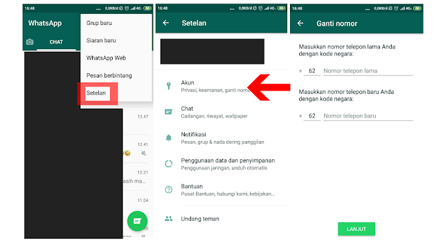 Cara Mengganti Nomer Telpon Di WhatsApp