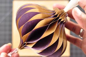 Honeycomb paper ornament diy