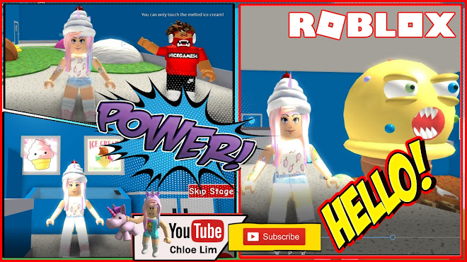 Roblox Escape The Ice Cream Shop Obby Gameplay! Eating lots of Ice cream on the way through the obby!