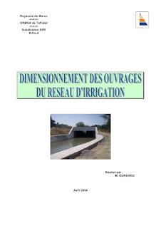 dimensionnement ouvrages réseaux d'irrigation
