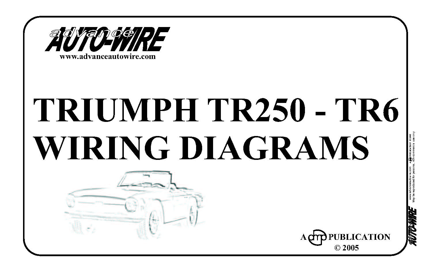 Triumph TR250 - TR6; wiring diagrams in colour
