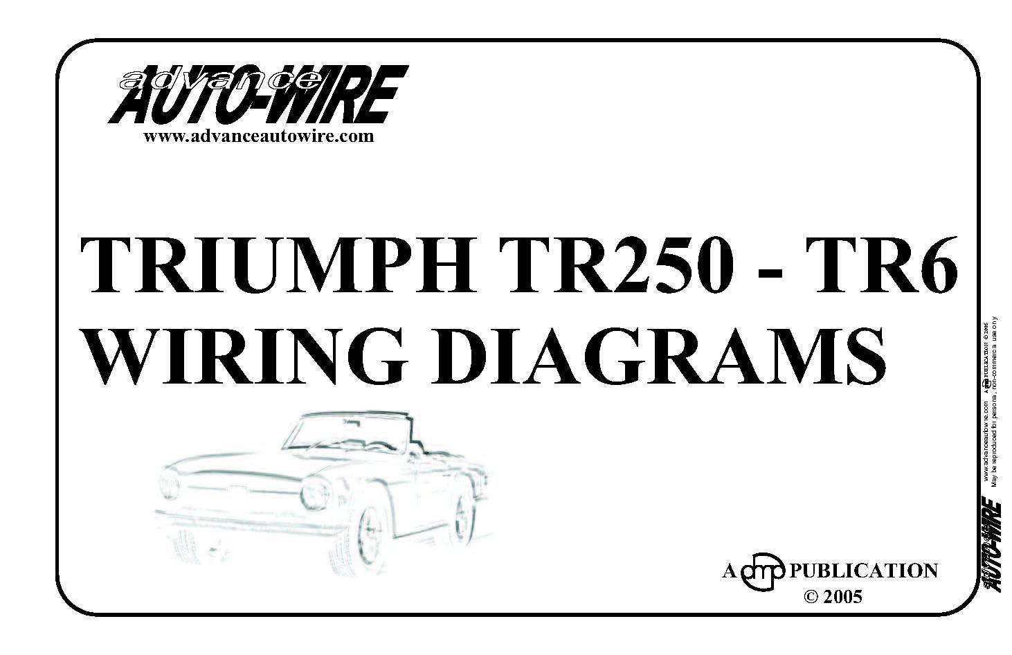 Vitessesteve  blog: Triumph TR250  TR6; wiring diagrams