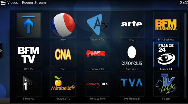 سورس جديد لبرنامج Kodi وتركيب إضافة Rogger Stream مشاهدة أفضل القنوات