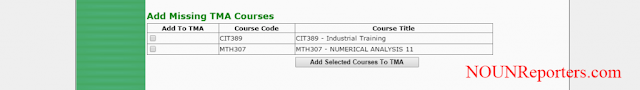 Add Missing TMA Courses