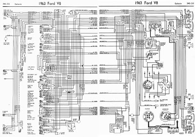 Ford V8 Galaxie 1963 Complete Electrical Wiring Diagram