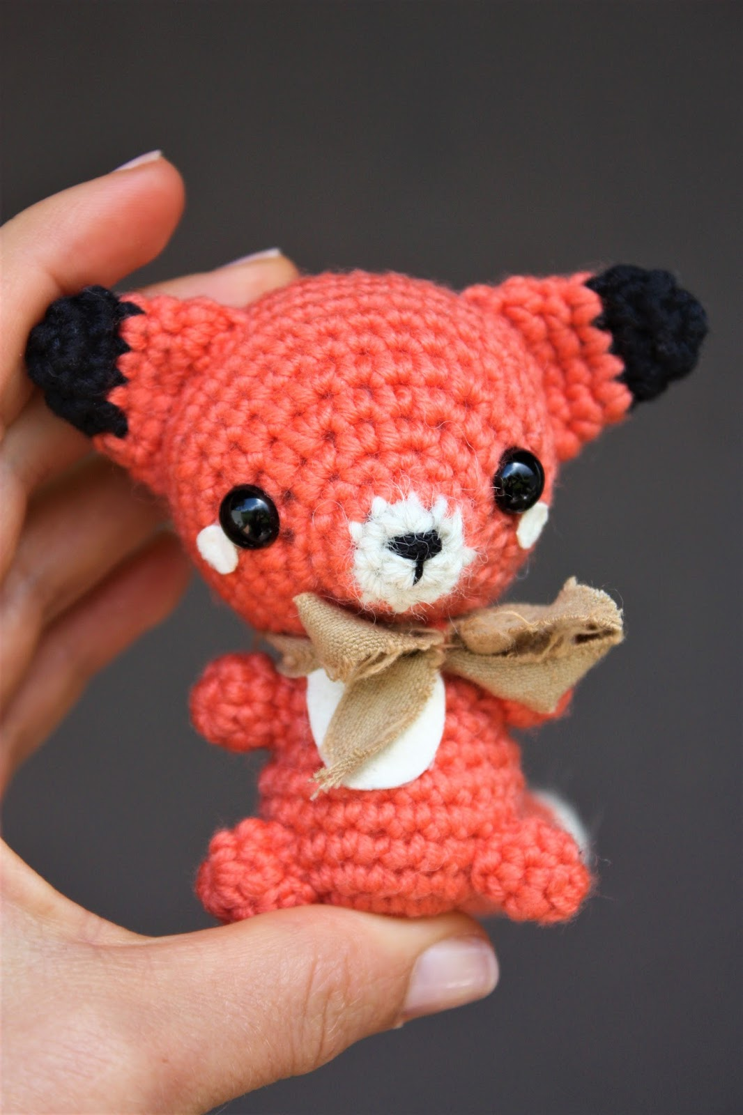 PATTERN crochet FOX pdf tutorial how crochet fox diy fox pdf ... | 1600x1066