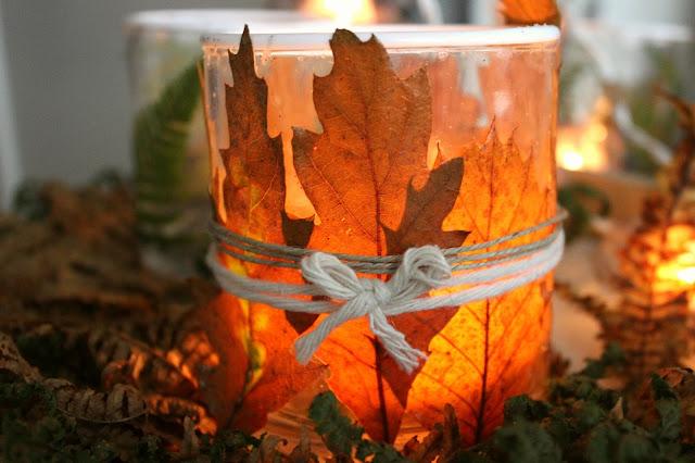winter autumn candle home decor diy craft creative