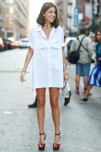 camisa branca vestido