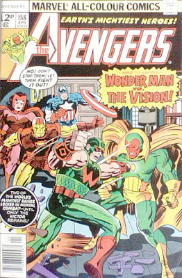 Avengers #158, Wonder Man vs the Vision