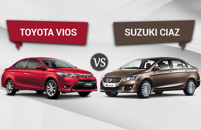 Suzuki Ciaz vs Toyota Vios
