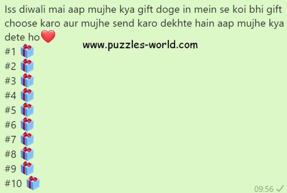 Diwali Gift Whatsapp Game