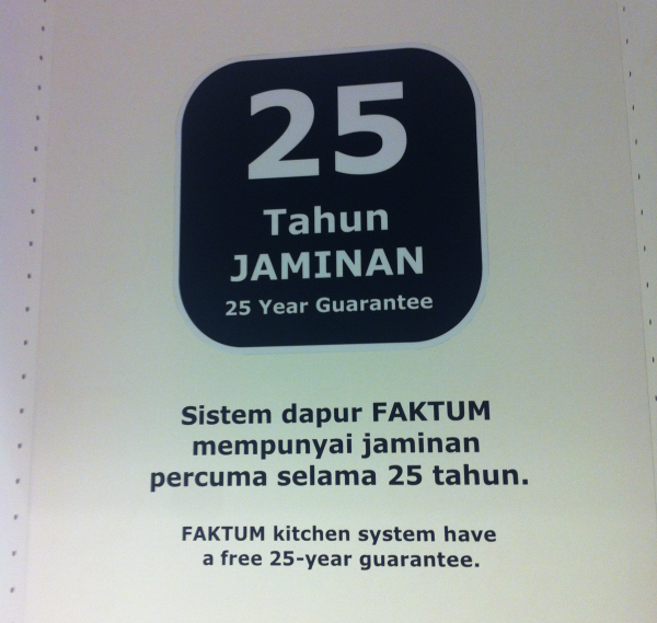Wow! 25 years guarantee!