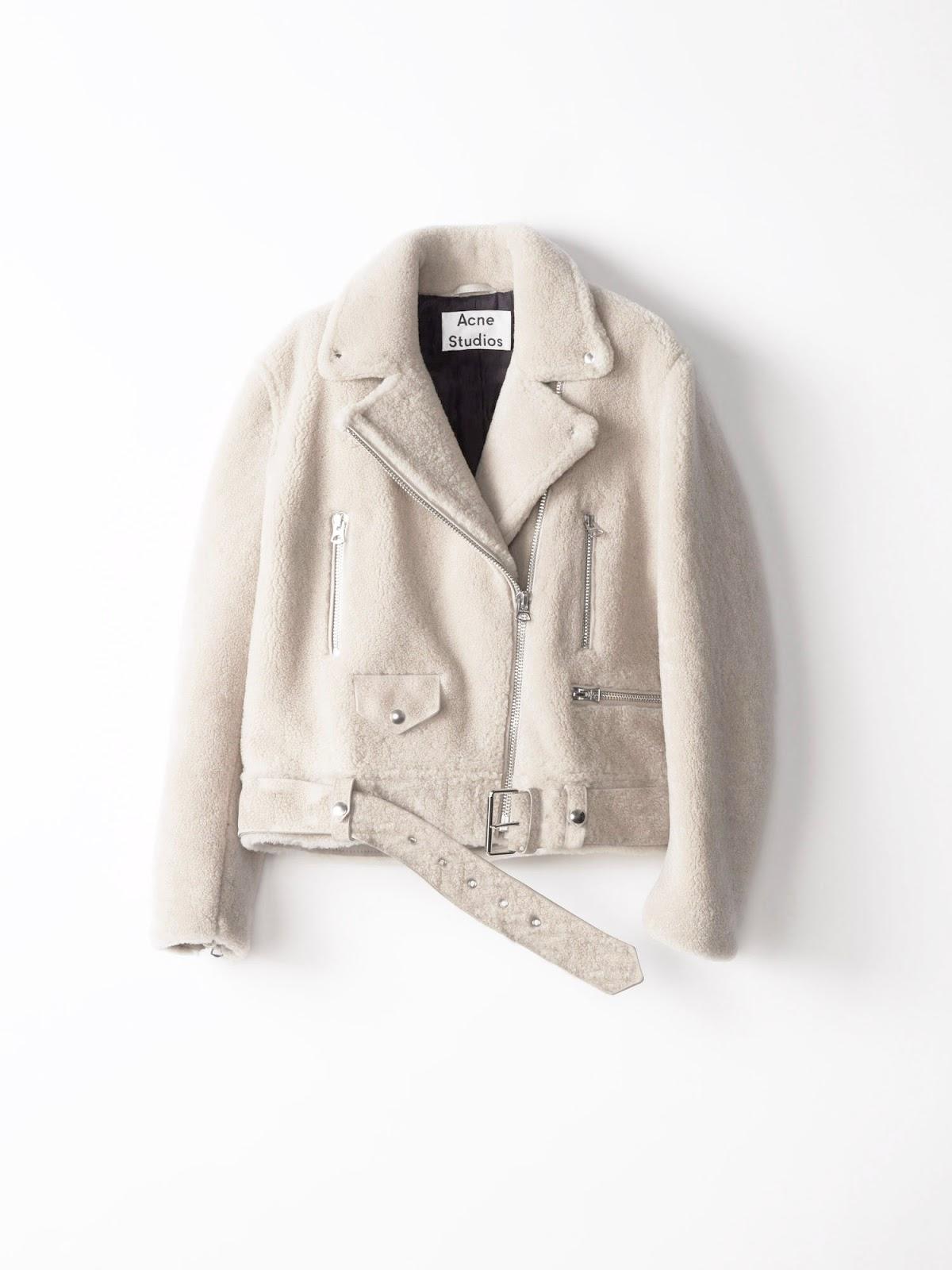 Sublime veste manteau en mouton retournée blanc ACNE STUDIOS - Gorgeous  MERLYN Velocite white shearling jacket by ACNE STUDIOS ee39b6734f9