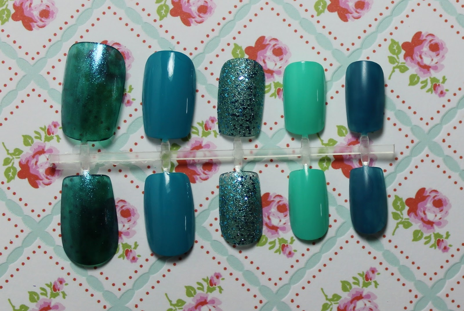 top 5 teal nails