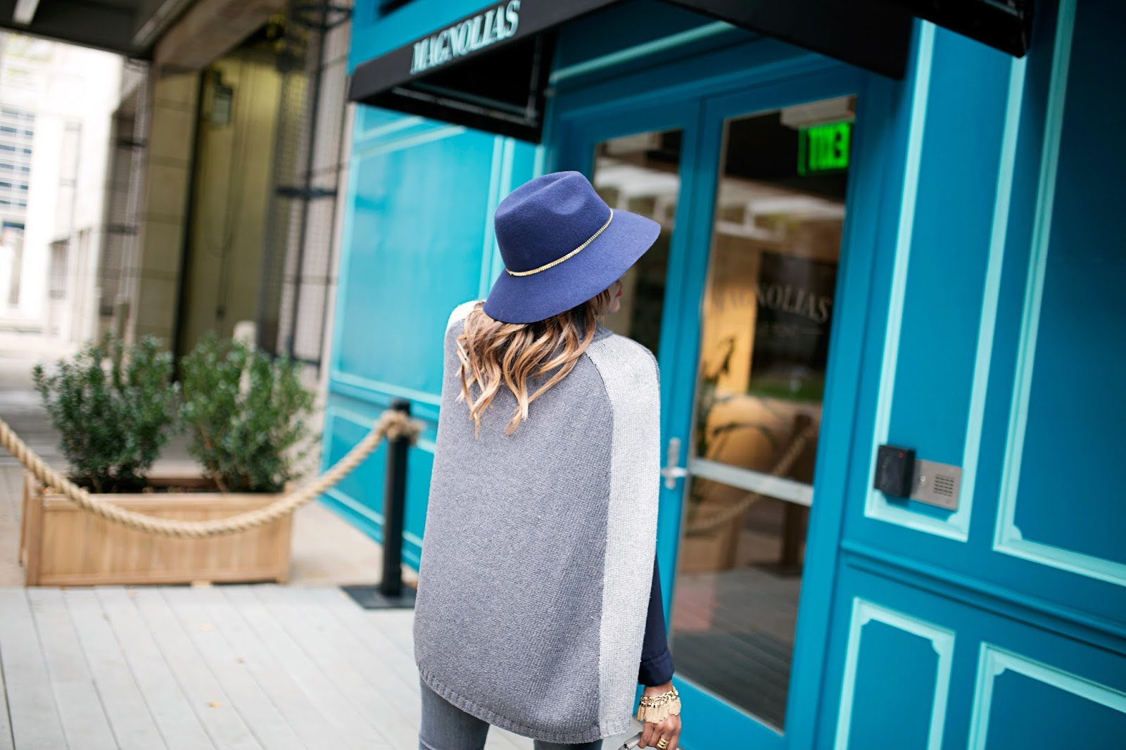navy knee boots, missguided boots, c wonder cape, how to wear a cape, river island satchel, fashion blogger, dallas blogger, navy floppy hat, winter fashion, navy and gray outfit