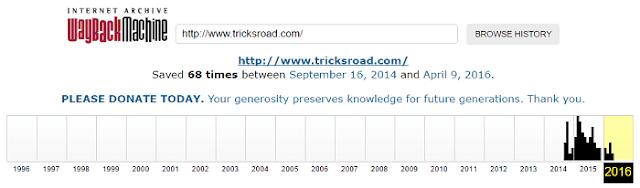 TricksRoad Web Archive